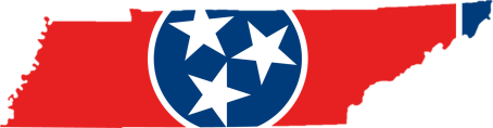 tennessee flag map